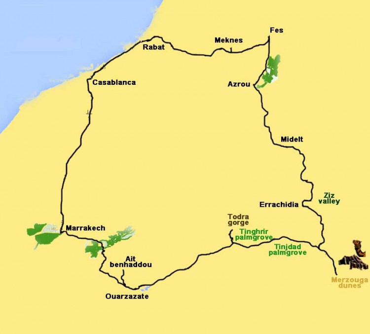 excursion from Casablanca with to Imperial cities and desert - 10 days